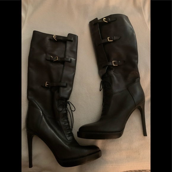 Burberry Shoes - Burberry AUTH. metallic boots sz 37.5(fits size 7)